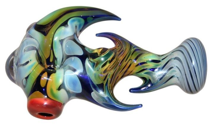 Cobalt Glass with Appendages